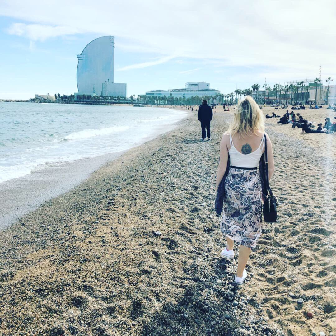 Barcelona beach March