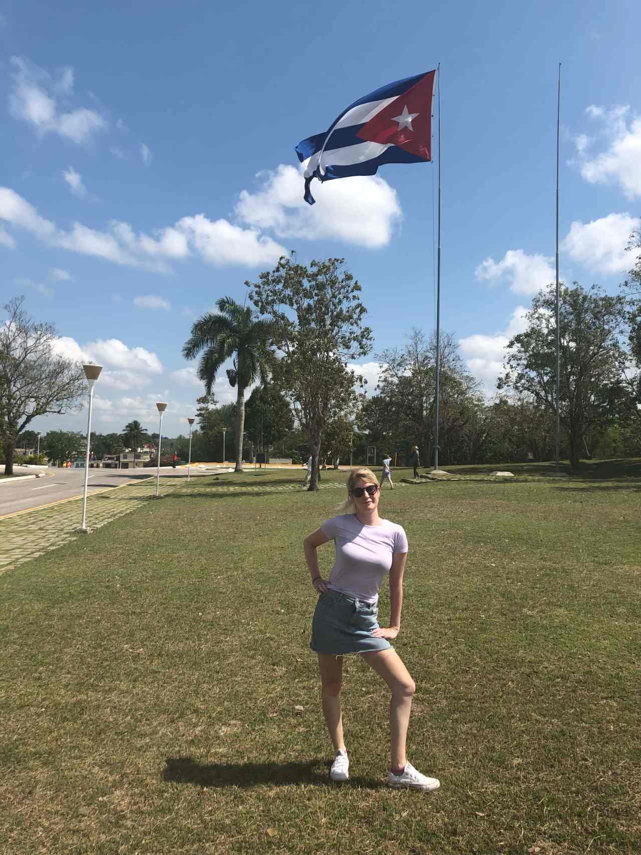 Cuban Flag Santa Clara