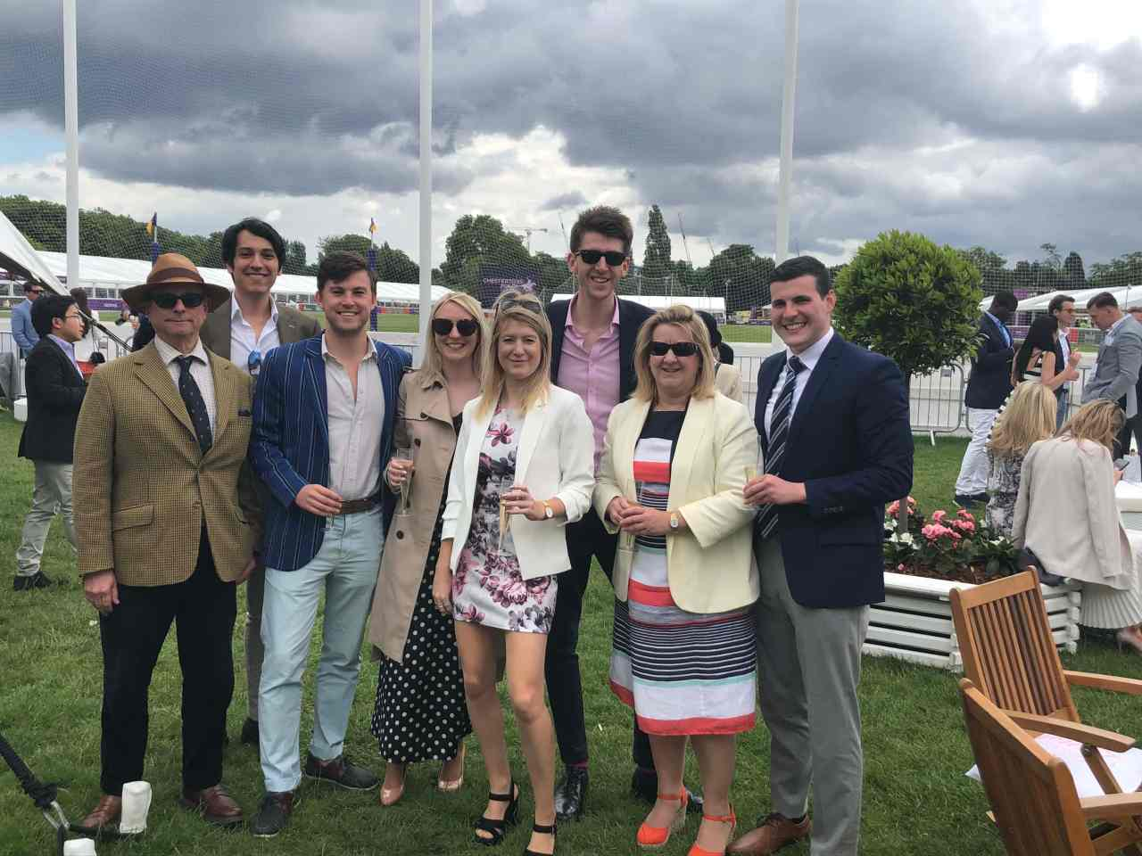 Group photo polo in the park