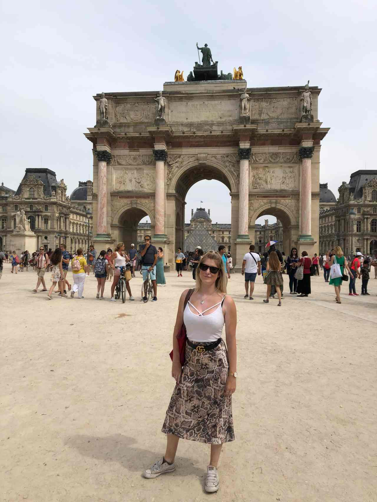 Archway by the Louvre Paris