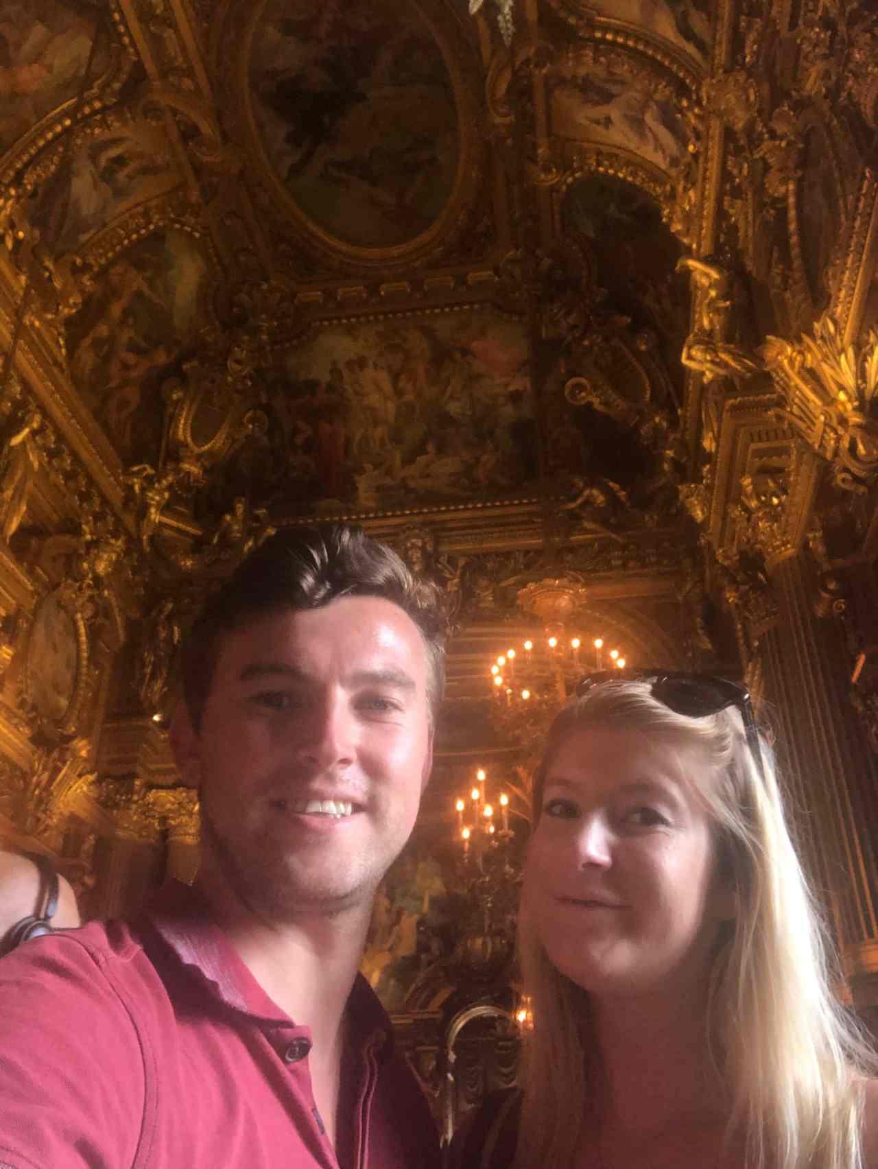 Palais Garnier Opera House Paris Ballroom selfie