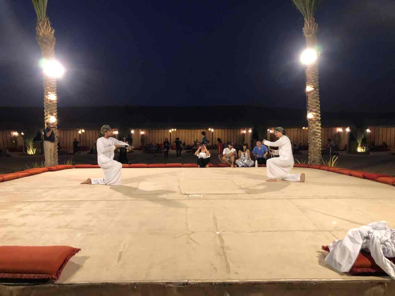 Sword dance Dubai desert