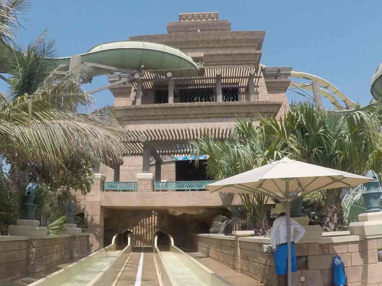 Aquaventure waterpark Atlantis Dubai Poseidon's Tower