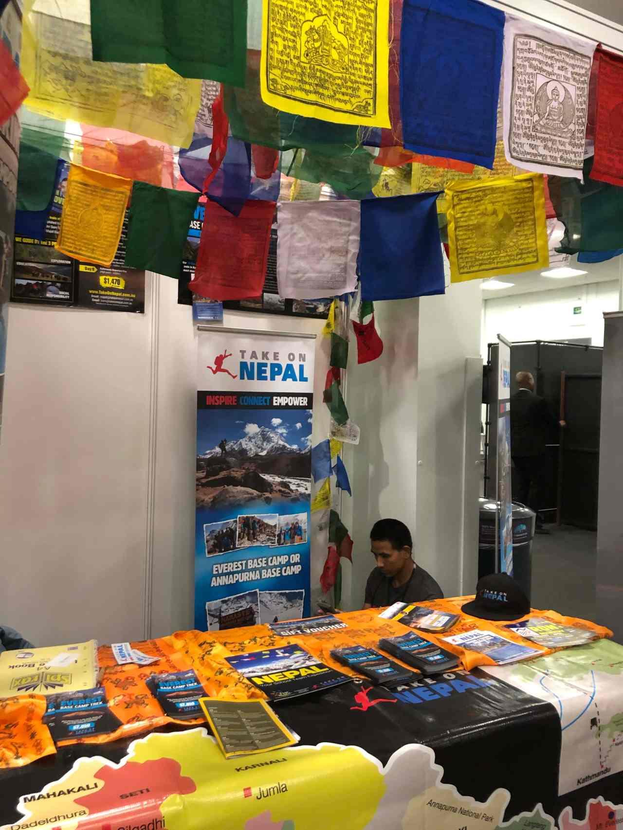 Adventure travel show Nepal stand