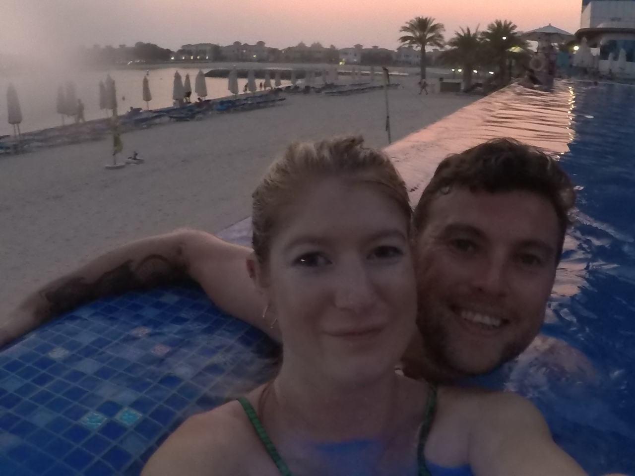 Duke's the palm pool and beach