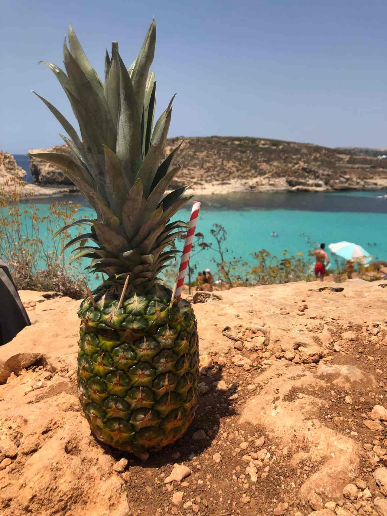 Blue lagoon pineapple cocktail malta