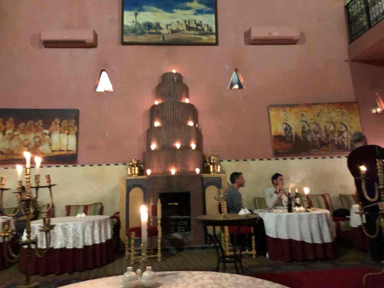 An entertainment restaurant in Marrakech