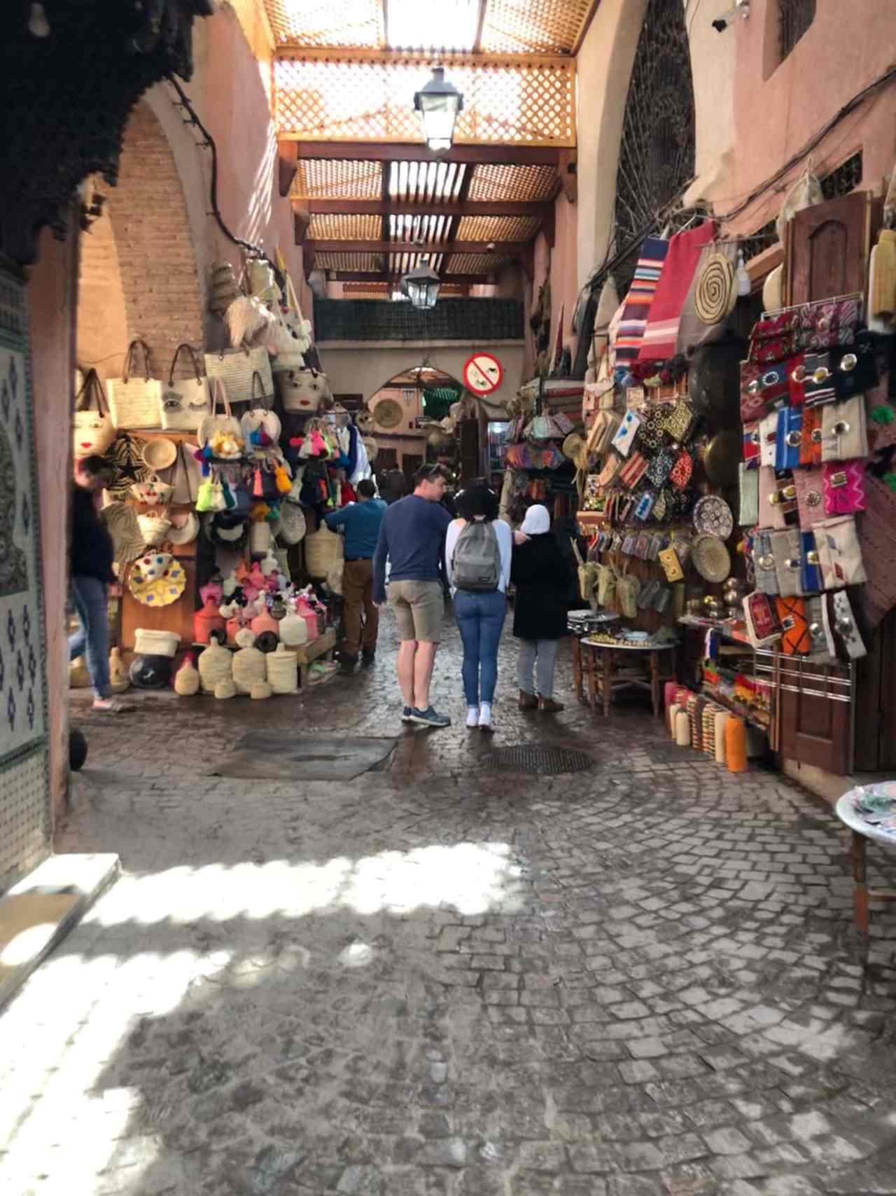 Morning in the Marrakech souks