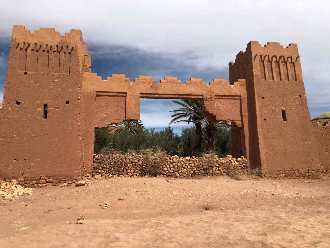 Fake city gate from Gladiator at Ait Benhaddou