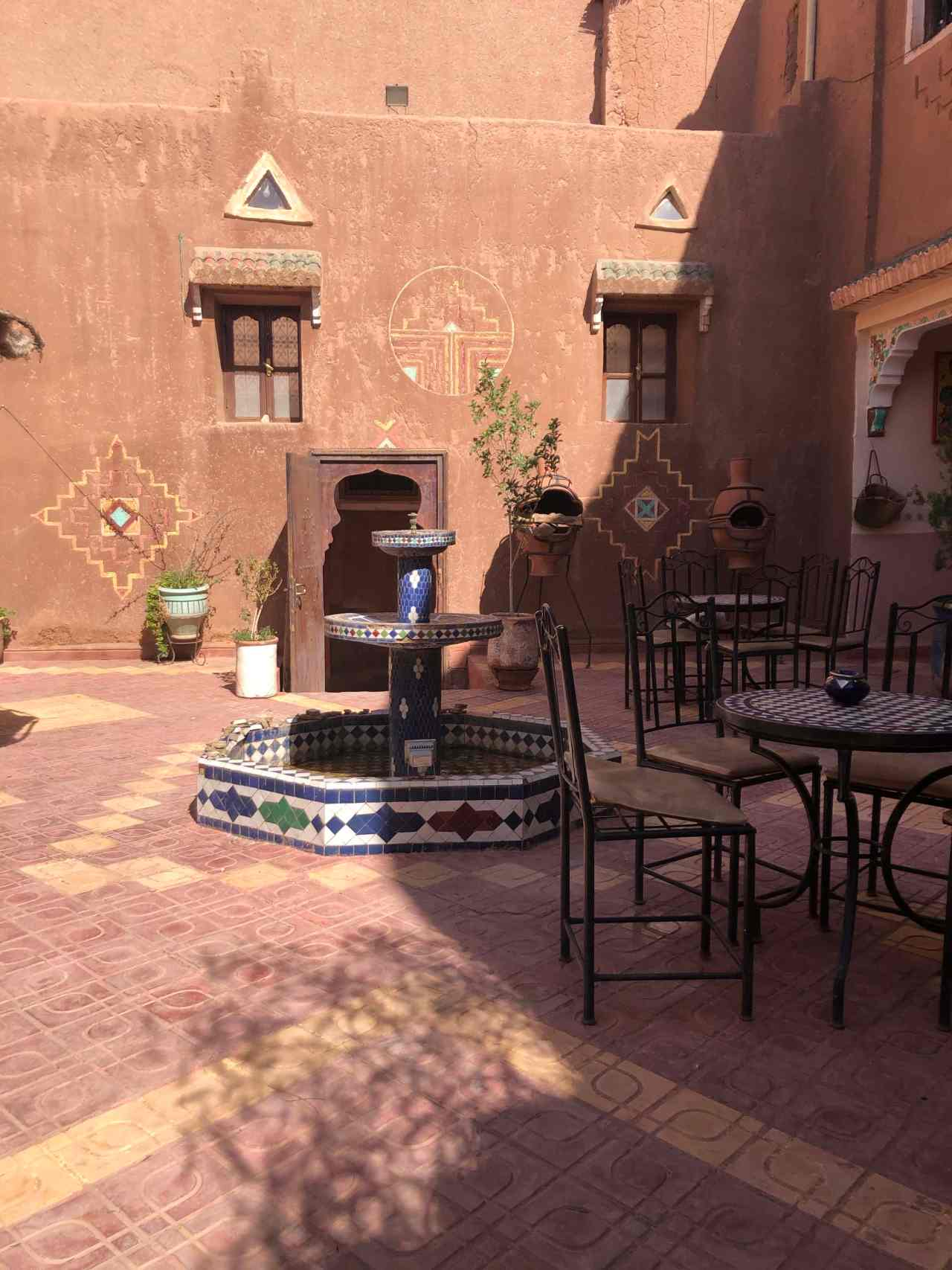 A deserted cafe in Ouarzazate