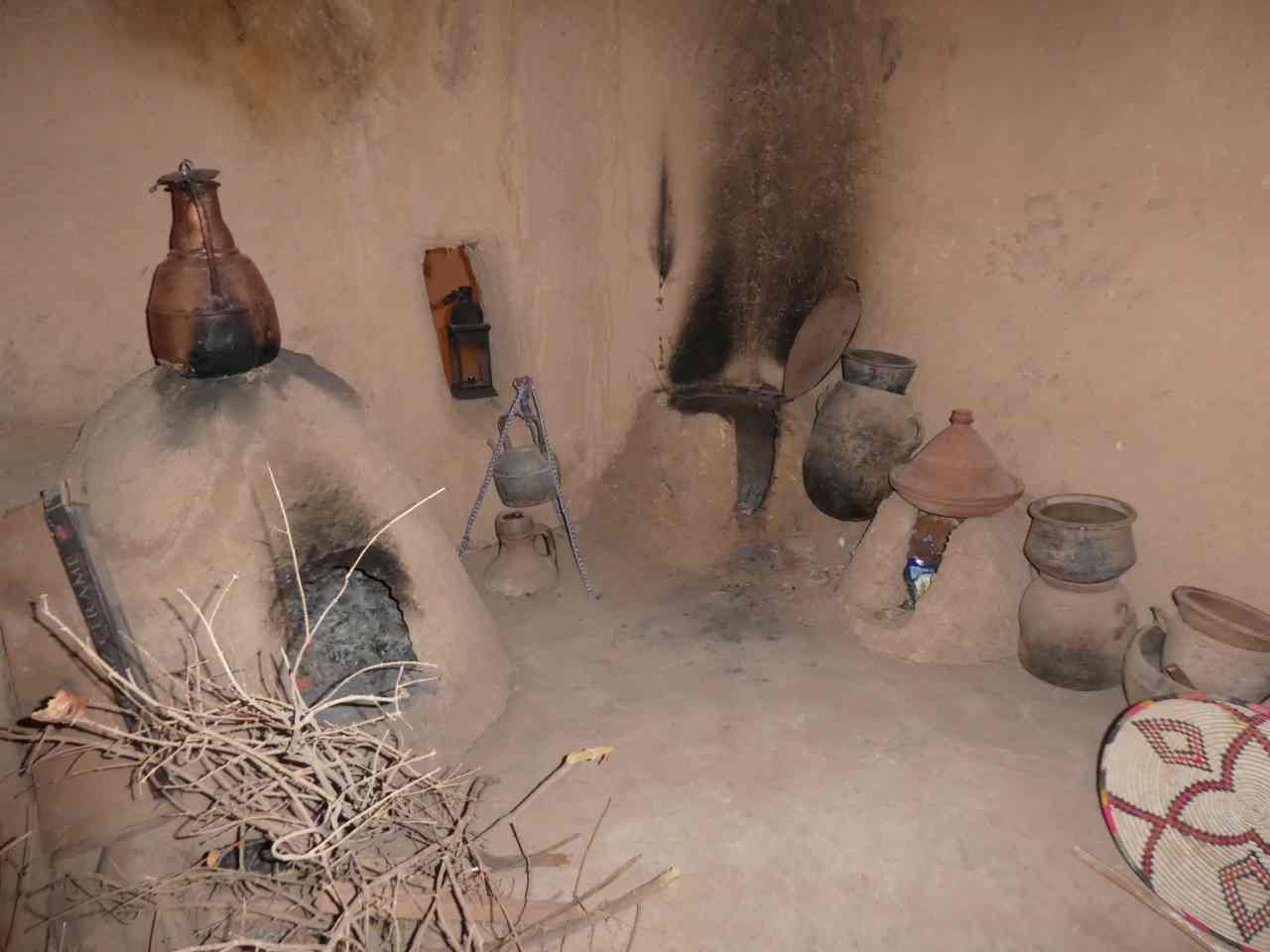 A traditional Berber kitchen Ait Benhaddou