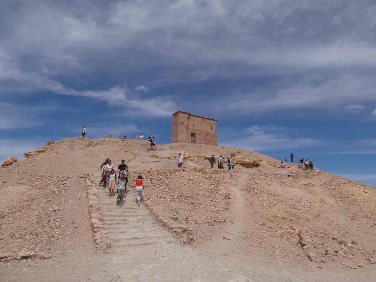 Top of the hill Ait Benhaddou is built on
