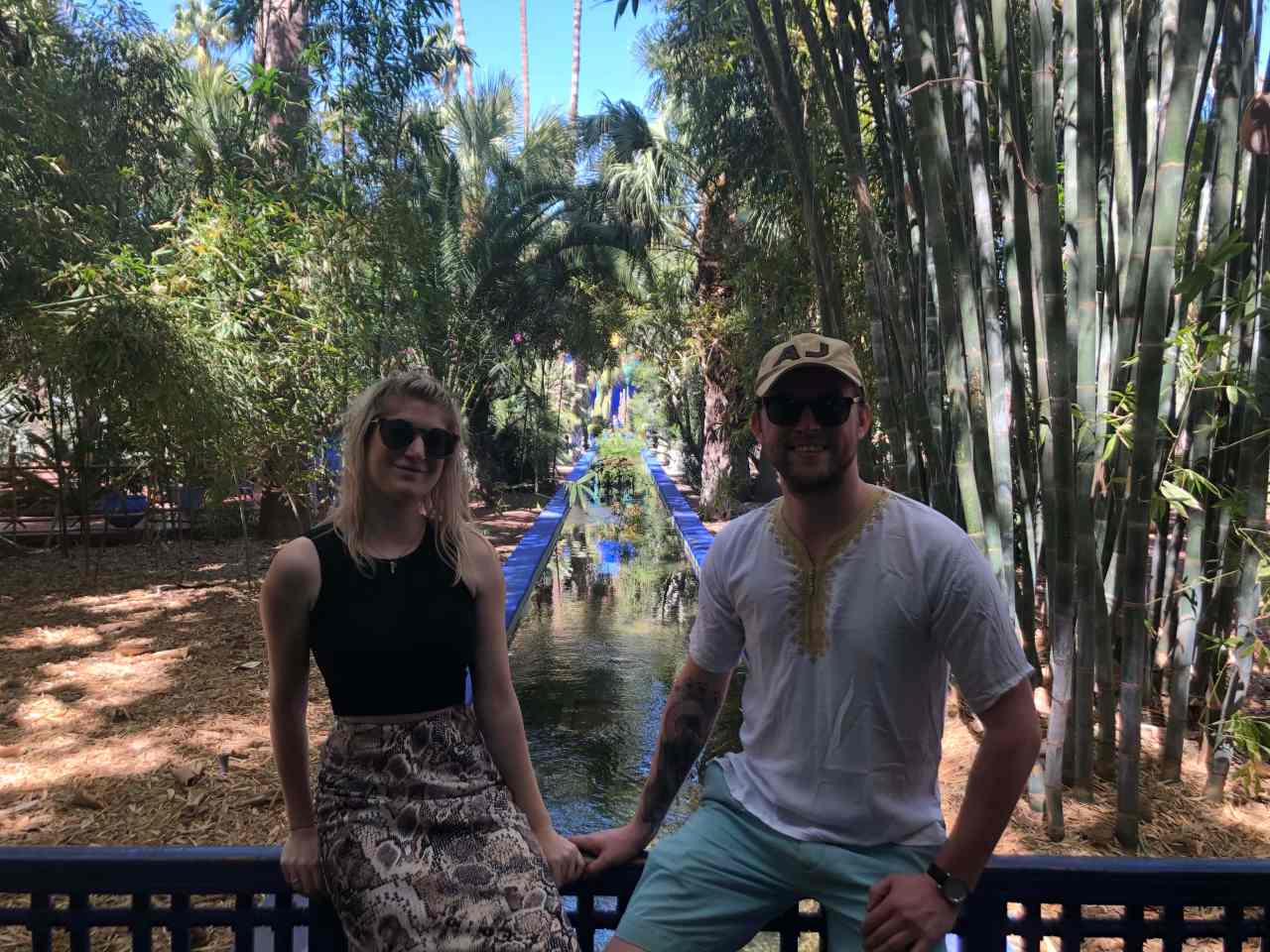 Couple photo Le Jardin Majorelle