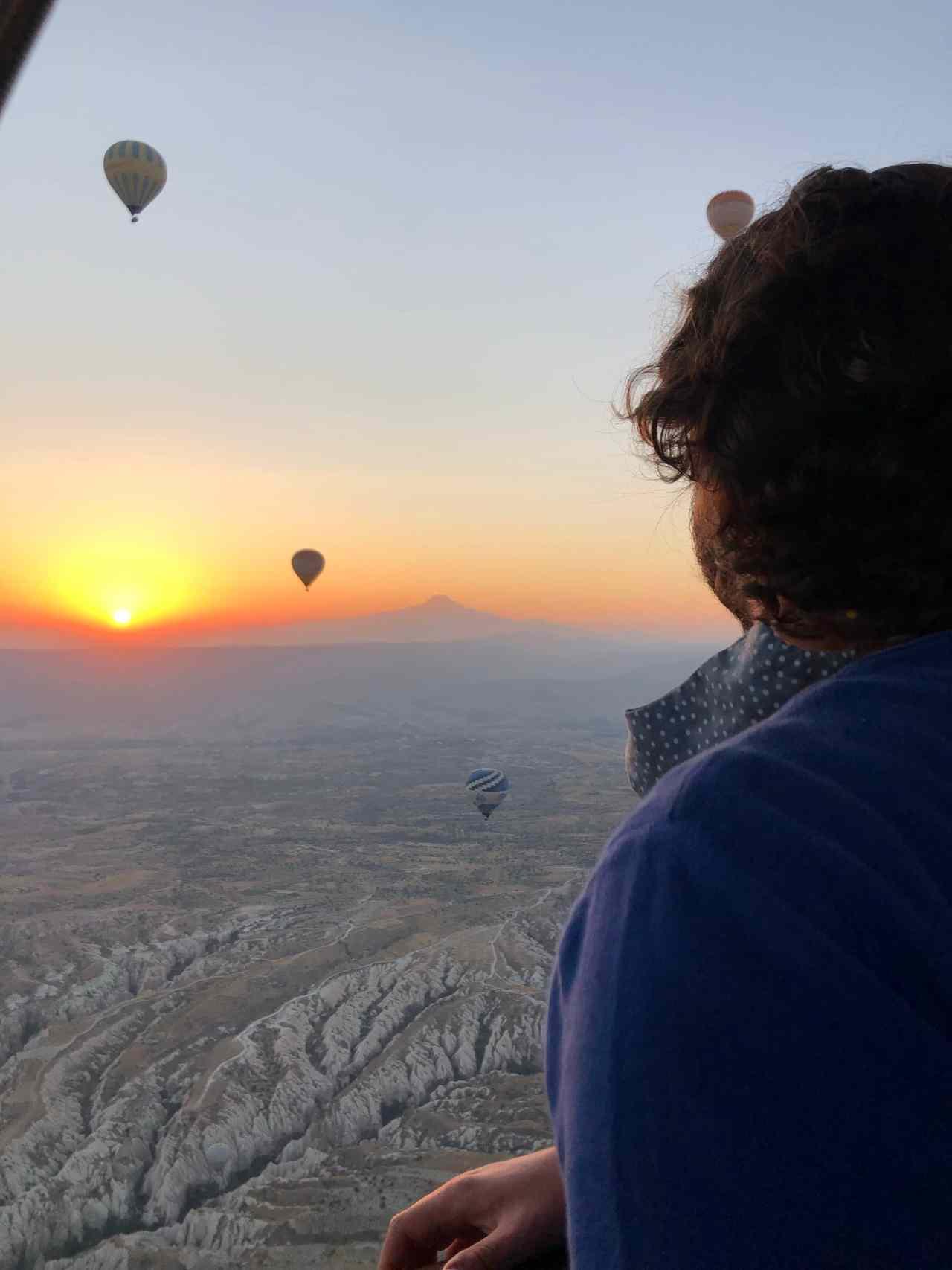View from hot air balloon Cappadocia