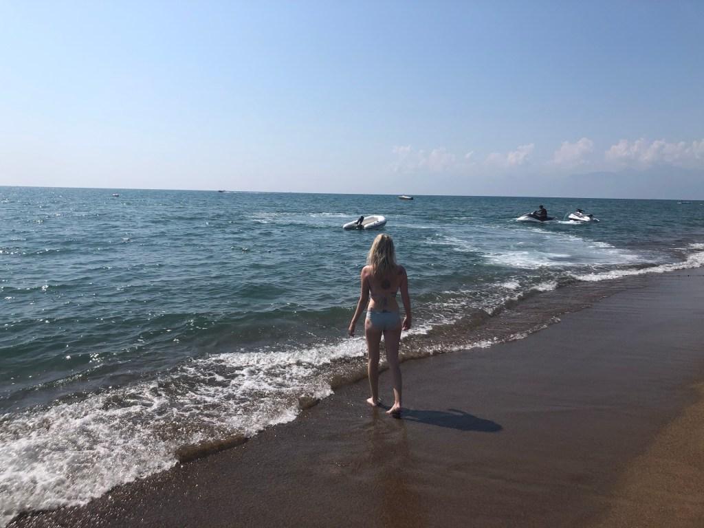 waves on Lara beach