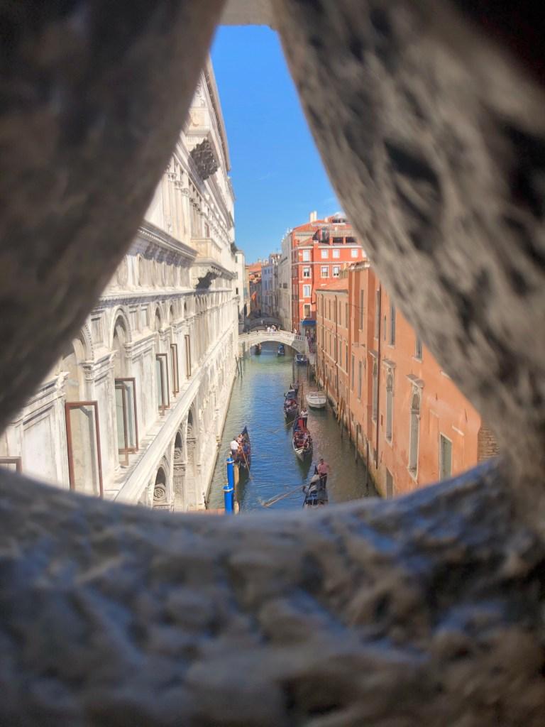 bridge of sighs view venice