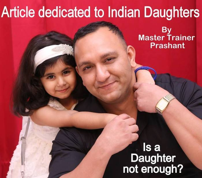 Master Trainer Prashant with his daughter Noor