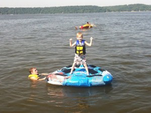 Drake at the lake