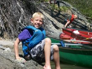 Josh swimming in a Sierra Nevada Lake