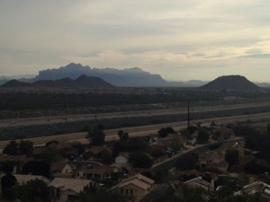 Mesa and Superstition Mountains