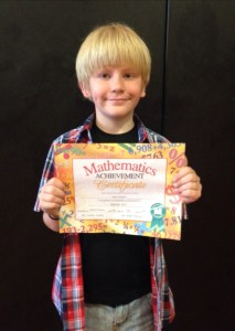 You don't need to take first place to win: Drake with Math Bee certificate