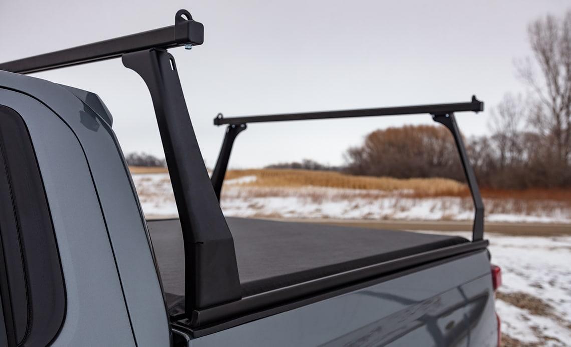 adarac black matte aluminum contour truck rack