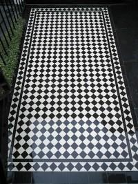Victorian Black and White Mosaic Tile Path Blackheath ...