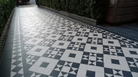 London Victorian Black And White Mosaic Tile Path ...
