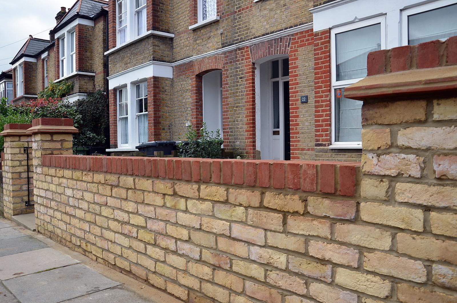 Front Garden Brick Wall Designs