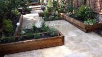 Travertine Paving Patio Modern Garden Design Landscaping ...