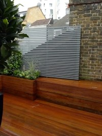 Architectural hardwood modern garden design Wandsworth ...