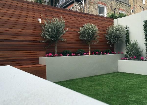 simple modern court yard garden