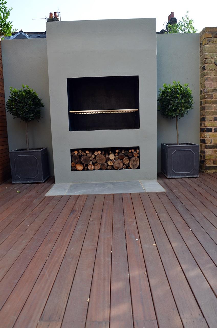 Modern Garden Design Artificial Grass Raised Beds Hardwood Decking Cedar Privacy Screen Bespoke