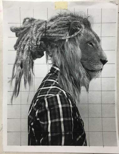 Human dog hybrid drawing - photo#22