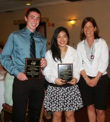 Mrs. Fleming with Consumer Science Award winners, Ed Yeardon and Tiffany Vo