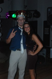 Homecoming King and Queen Joe Rizzotto and Haley Reardon