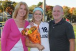 Molly Garrity along with mom and dad, Kathy and Joe.