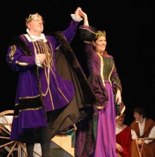 The King and Queen of the Festival: Mr. Retchless, Superintendent of Schools and Mrs. Fleming, Consumer Science teacher.