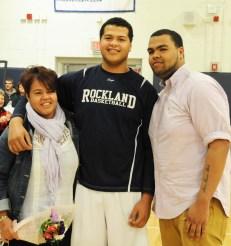 Erik Arias with his family