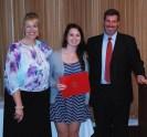 Assistant Principal Sue Patton & Principal Alan Cron presented junior Alyssa Collins with the Rensselaer Award for Math & Science.