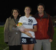 Julia Matson with her parents Jill and John
