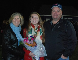 Kara Penney was escorted by her parents Patti and Rich Penney.