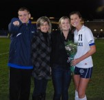 Lauren Farrell with her brother, Kevin, her mom, Linda, and her sister Kiley