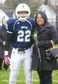 #22 Leshon Crawford with his mother Keisha