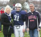 #31 Matt Bille escorted by his parents, Lisa and John