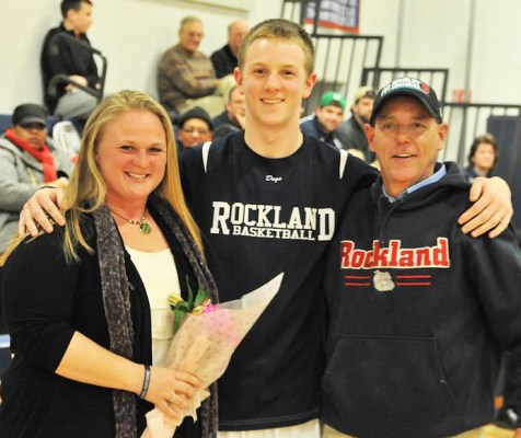 Andrew Frazer with his mom and dad.