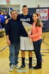Senior Liam Ball, his dad and sister