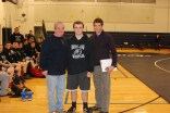 Senior Mike Mignosa with Coach Brown