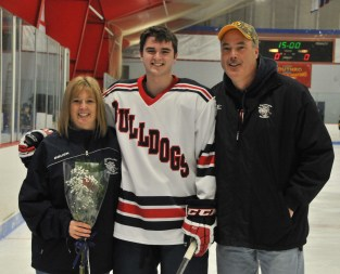 Pat Tanner with his mom and dad.