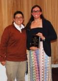 Caroline Kilduff receives Academic Achiever Award in Science from Ms. Hoyo.